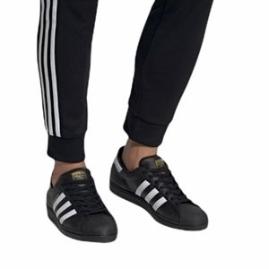 Adidas Superstar White on Black Sneakers
